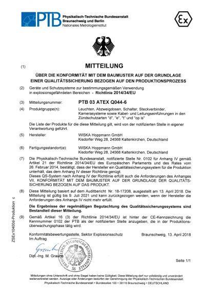 Ex Zertifikat