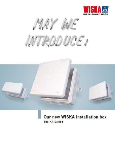Our new WISKA installation box