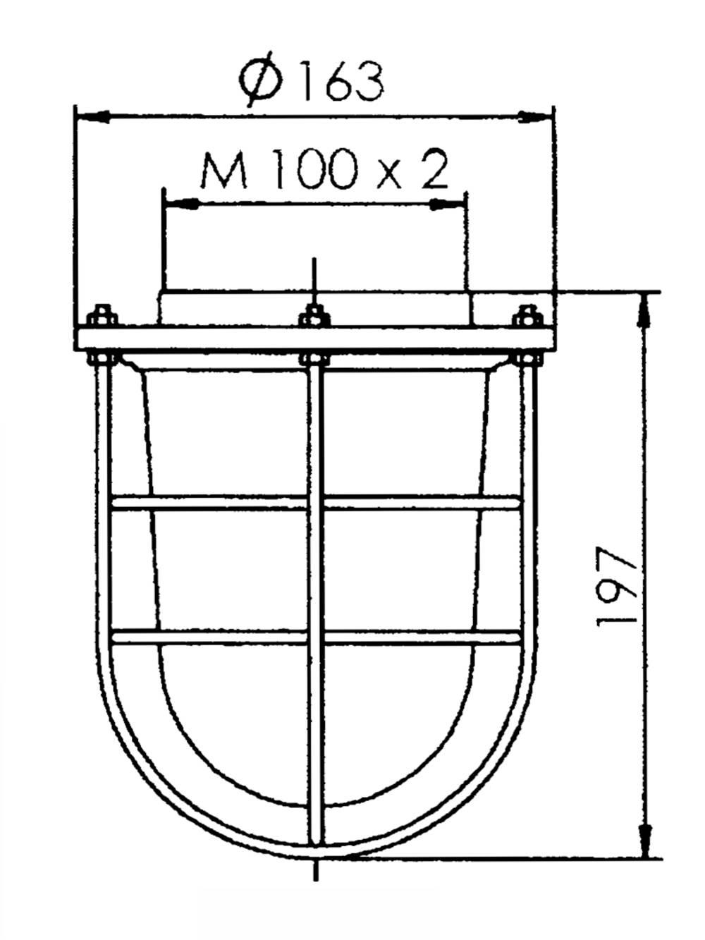 sp 1916 flansch mit glas und korb wiska. Black Bedroom Furniture Sets. Home Design Ideas