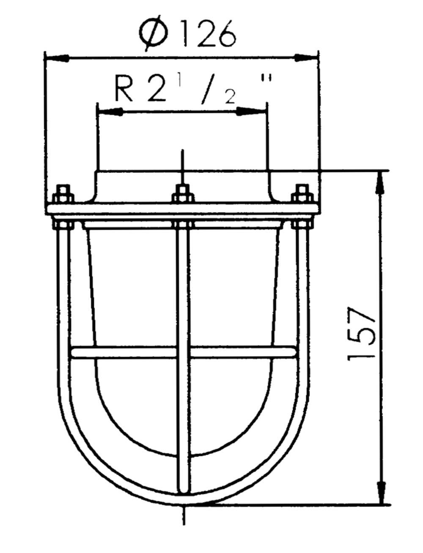 sp 1941 flansch mit glas und korb wiska. Black Bedroom Furniture Sets. Home Design Ideas