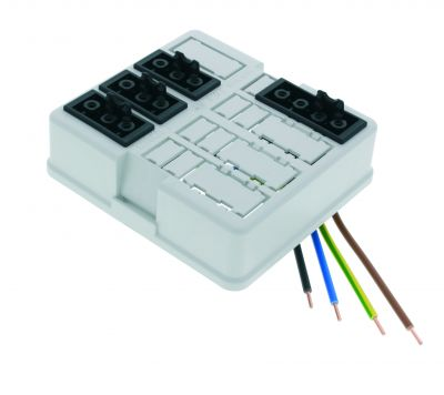 Plug instead of wiring: The plug-in solution for a quick installation - The new WHK Junction Box for installation plug connectors